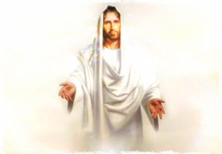 Jesús extendiendo la mano